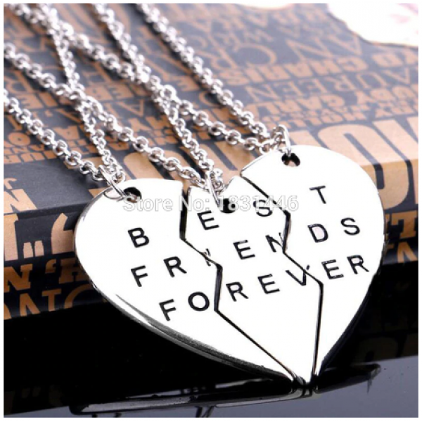Best Friends Forever pakabukas 3 dalių širdelė