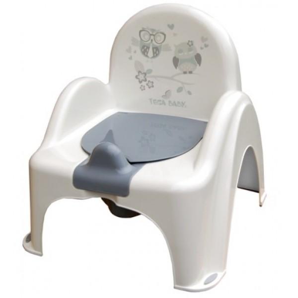Tega vaikiškas naktipuodis su kėdute Pelėdos