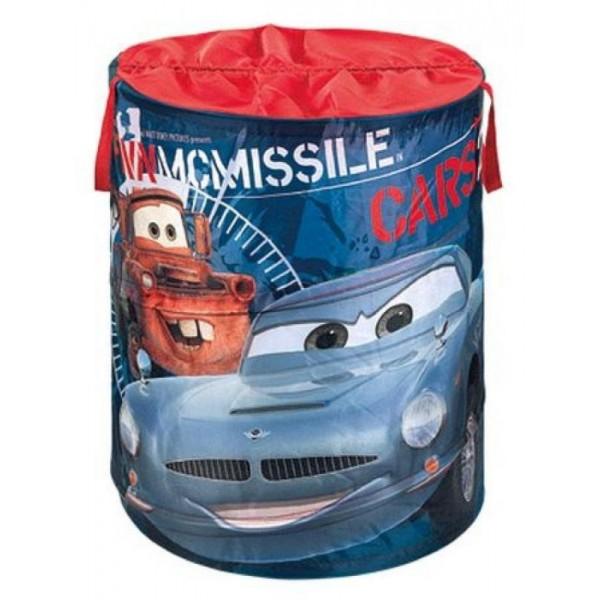 Išskleidžiama dėžė žaislams Cars apvali