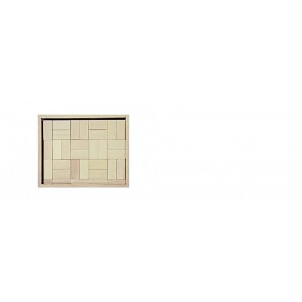 Frobel medinių kaladėlių rinkinys medinėje dėžėje - 117 kaladėlių (203305)