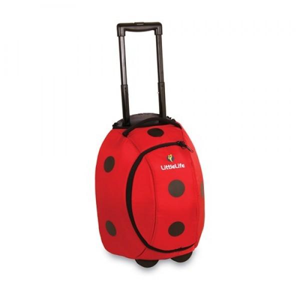 LittleLife vaikiškas lagaminas su ratukais Animal Wheelie Duffle Boružėlė