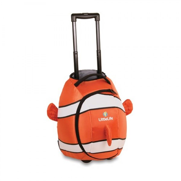 LittleLife vaikiškas lagaminas su ratukais Animal Wheelie Duffle Clownfish