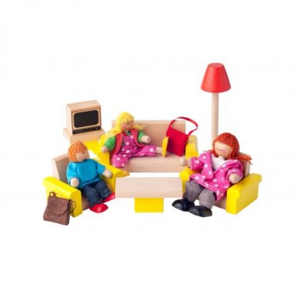"""Lėlių namo baldai """"Svetainė"""""""