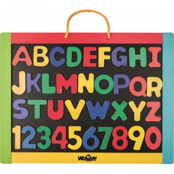 Magnetinė dvipusė lenta su abėcėlės raidelėmis