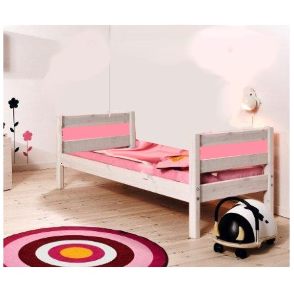 Medinė lova paaugusiam vaikui/jaunuoliui 200 cm, natūralios spalvos