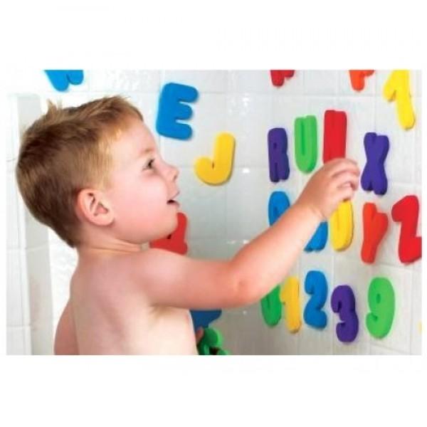 MUNCHKIN vonios žaislas Prilimpančios raidelės ir skaičiukai