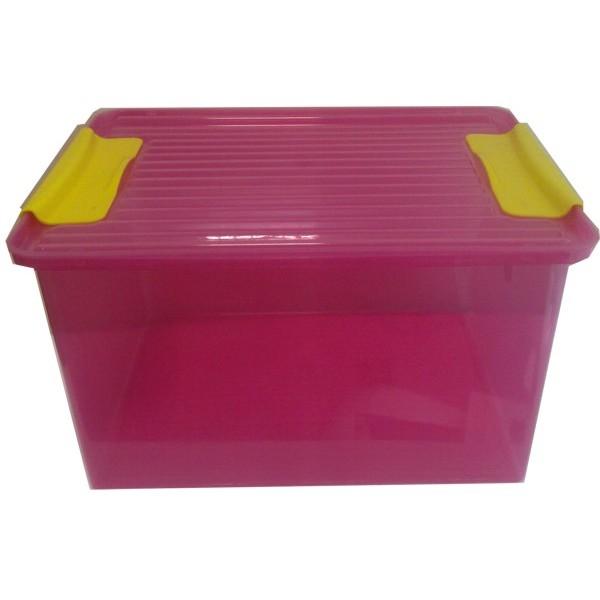 Dėžė žaislams System box 38l, peršviečiamos sienelės, rožinė