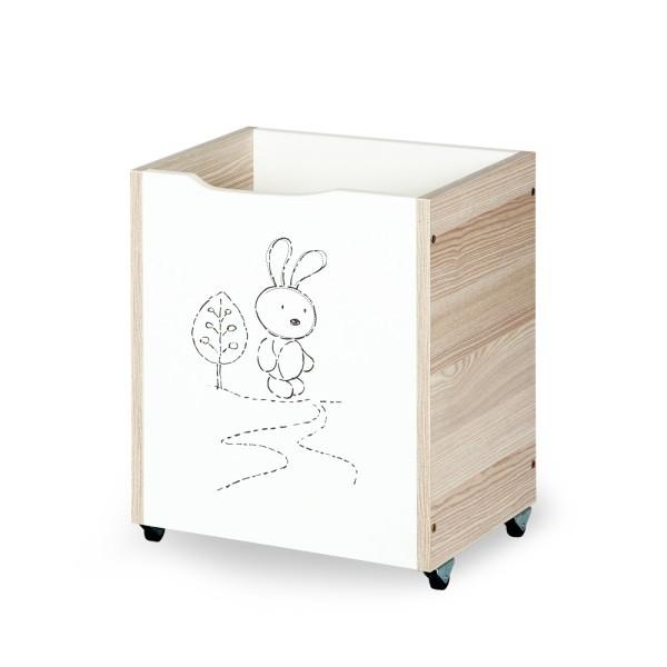 KLUPŠ Žaislų dėžė SAFARI Zuikutis