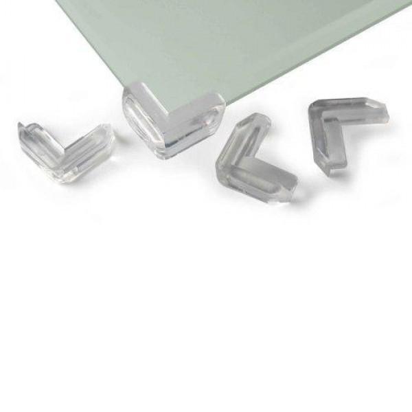 REER kampų apsaugos stiklo lentynoms ir paviršiams, skaidrios, 4 vnt. 4904