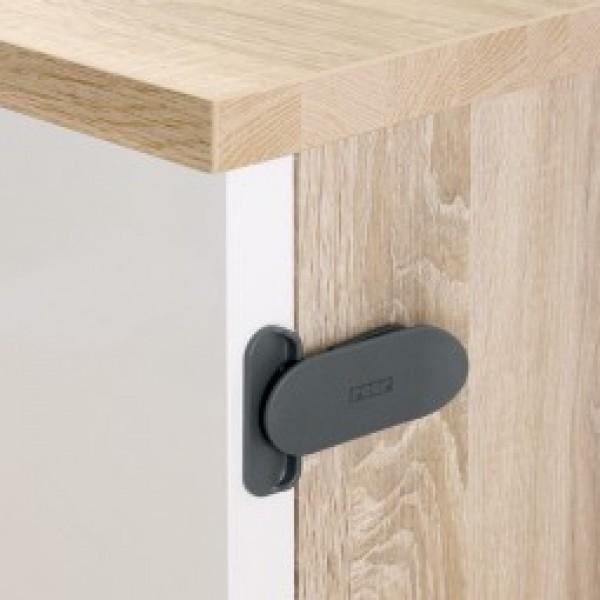 REER DesignLine kampinis užraktas durelėms ir stalčiams 2 vnt, antracito spalvos