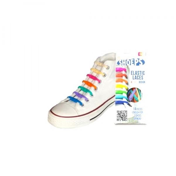 Shoeps elastingi silikoniniai batų raišteliai