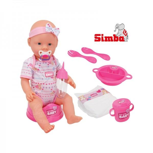 Simba New Born Baby lėlytė Bobas 43 cm su aksesuarais