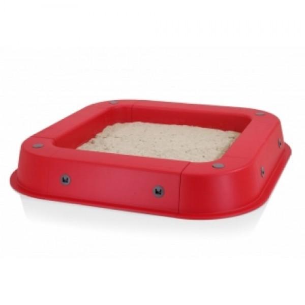 KETTLER smėlio dėžė su uždanga raudona