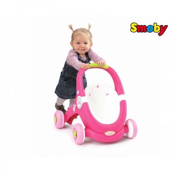 Smoby Mini Kiss stumdukas - vežimėlis lėlytėms vežioti nuotrauka nr.3