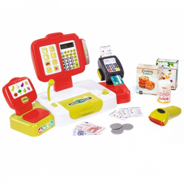Smoby Elektroninė fiskalinė kasa su ekraniuku, raudona nuotrauka nr.1