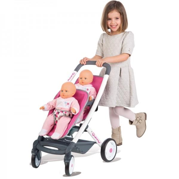 SMOBY MAXI COSI vežimėlis dvynėms lėlėms nuotrauka nr.2