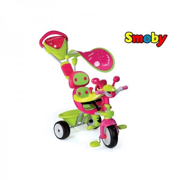 Smoby Baby Driver Comfort GIRL vairuojamas triratukas nuotrauka nr.1