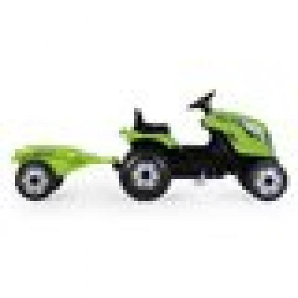 SMOBY Traktoriukas su pedalais Farmer XL su priekaba, žalias nuotrauka nr.1