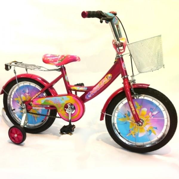 Vaikiškas dviratis 4-8 metų mergaitėms Snow White