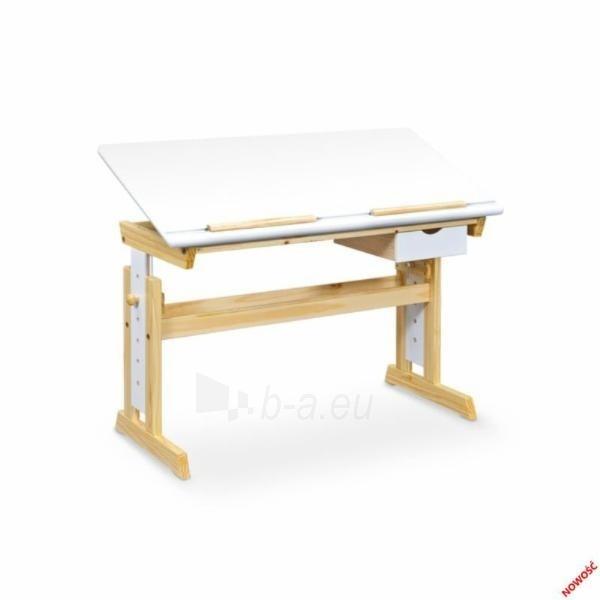 Augantis vaikiškas rašomasis stalas, medinis