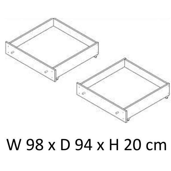 Patalynės stalčiai Mini serijos baldams, natūralios spalvos