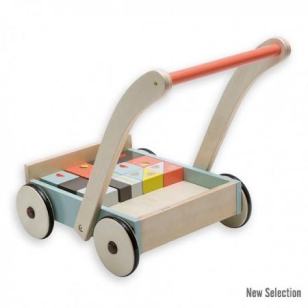 Stumiamas vežimėlis su kubeliais Lapė