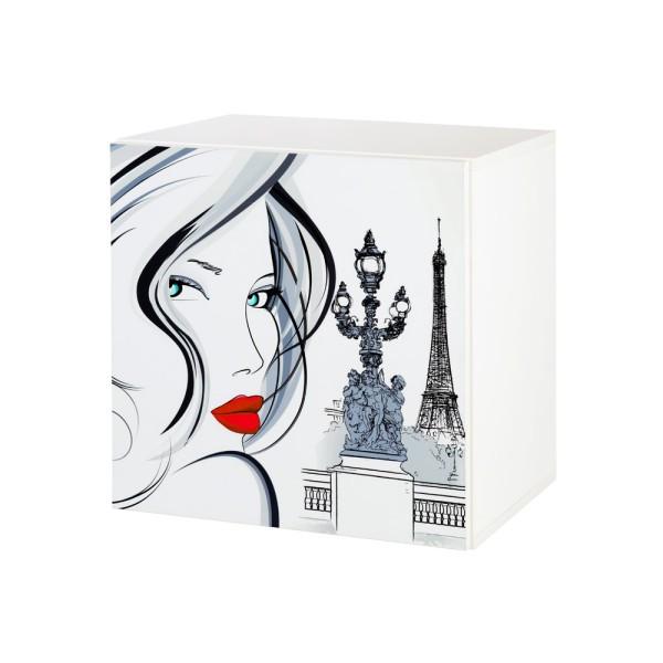 KLUPŠ Pakabinama spintelė Top Paris su piešiniu