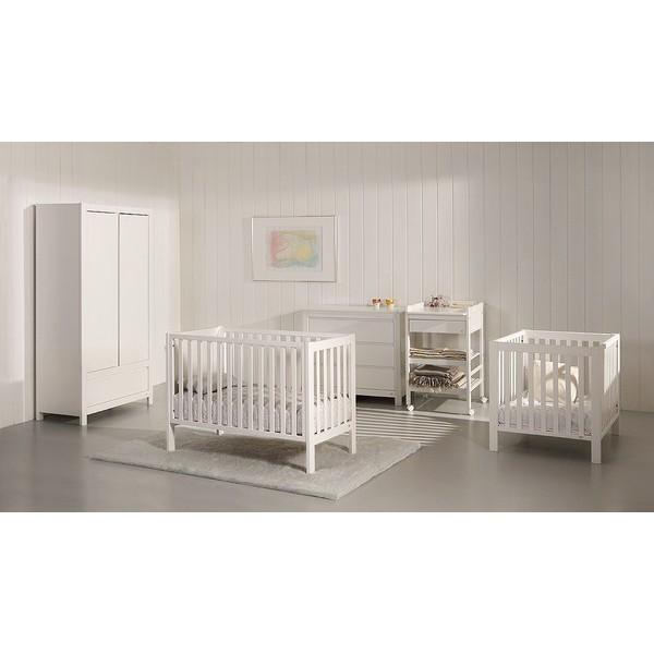 TROLL kūdikio baldų komplektas Loft, baltos spalvos