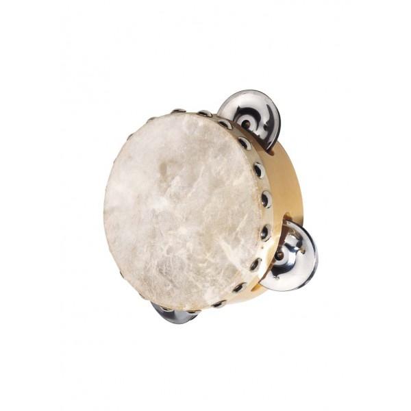 GOKI natūralios odos tamburinas su 3 skambaliukais - 1 vnt
