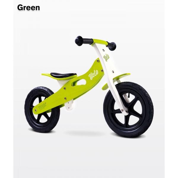 Caretero Enduro medinis balansinis dviratukas su pripučiamomis padangomis