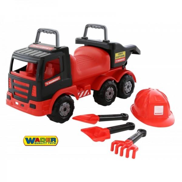 Wader QT MAMMOET sunkvežimis - paspirtukas + rinkinys žasiti su smėliu nuotrauka nr.1