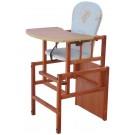 DREWEX medinė maitinimo kėdutė ANTOS tikmedžio spalvos