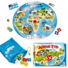 """Beleduc stalo žaidimas """"Vienas pasaulis"""" Gyvūnų kelionė (22730)"""