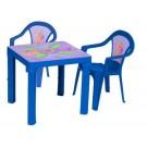 3TOYSM ZM vaikiškas stalas ir 2 kėdutės mėlynos spalvosE nuotrauka nr.2