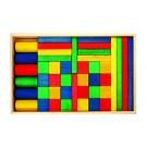 Frobel spalvotų medinių kaladėlių rinkinys - 44 kaladėlių medinėje dėžėje (202200)