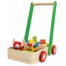 "PlanToys žaislas - stumdukas su kaladėlėmis ""Bird walker"" (PT5176)"