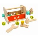 PlanToys lavinamoji priemonė - medinė įrankių dėžė su įrankiais - Robotas  (PT5540)
