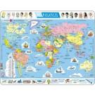Larsen lietuviška dėlionė (puzzle) Pasaulio Žemėlapis Maxi