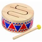 """PlanToys lavinimo priemonė - muzikinis instrumentas, būgnas """"Solid drum"""" (PT6404)"""