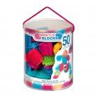 Bristle Block konstruktorius BBBucket 50 detalių tuboje