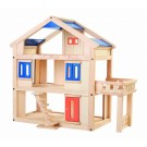 PlanToys lavinimo priemonė - lėlių namelis su terasa (PT7150)