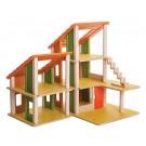 PlanToys lavinimo priemonė - lėlių namelis su stačiašlaičiu stogu (PT7609)