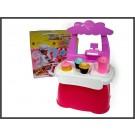 HIPO 94537  žaislinė saldumynų parduotuvė 34 detal., šviesos ir garso efektai nuotrauka nr.1