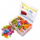 Q-Bricks rinkinys - Miksas, gėlių spalvos, 300 vnt.