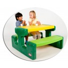 LITTLE TIKES Didelis žaliasis pikniko stalas
