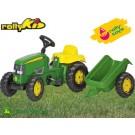 Rolly Toys vaikiškas traktorius John Deere su priekaba