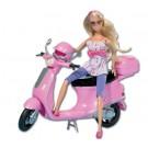 SIMBA lėlė Steffi Love ant motorolerio