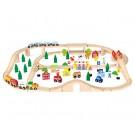 Viga Toys didelė geležinkelio stotis 90 elementų