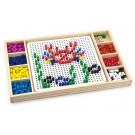 Viga Toys karoliukų mozaika + žaidimas su viename