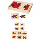 Viga Toys medinė mokomoji mozaika - galvosūkis 148 d
